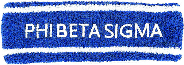 Phi Beta Sigma Sport Stripes Terry Mens Headband