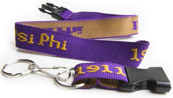 Omega Psi Phi Classic Woven Embroidered Lanyard