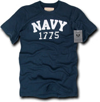 Navy Long Beach Applique Mens Tee