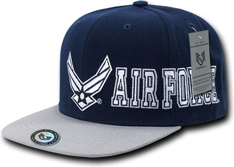 Air Force 2-Tone D-Day Military Mens Snapback Cap