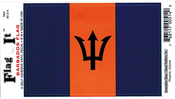 Barbados Flag Car Decal Sticker [Pre-Pack]