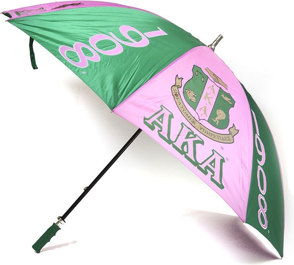 Alpha Kappa Alpha 8 Panel Print Jumbo Umbrella