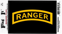 Army Ranger Logo Flag Outside Car Decal Sticker [Pre-Pack]