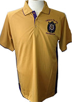 Omega Psi Phi Escutcheon Shield Dri-Fit Mens Polo Shirt [Short Sleeve]