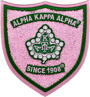 Alpha Kappa Alpha Shield Chenille Sew-On Patch