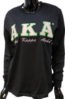 Alpha Kappa Alpha Script Applique Ladies Tee [Short Sleeve]