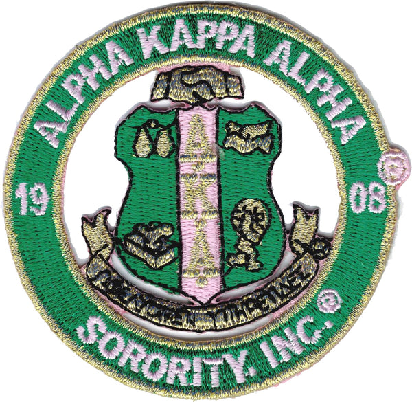 Alpha Kappa Alpha Sorority, Inc. Round Cut-Out Iron-On Patch