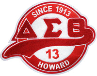 Delta Sigma Theta Chenille Tail Sew-On Patch