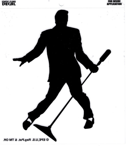 Elvis Presley Silhouette Static Cling Decal Sticker