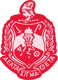 Delta Sigma Theta Crest Thin Woven Label Iron-On Patch [Pre-Pack]