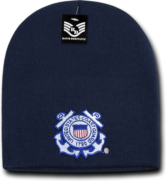 Coast Guard Military Work Mens Short Beanie Cap