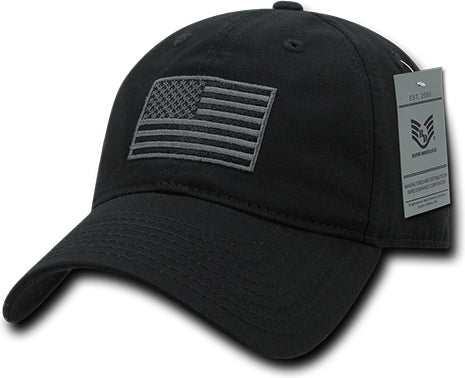 RapDom Tonal US Flag Graphic Relaxed Mens Cap