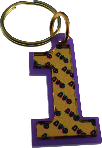 Omega Psi Phi Color Mirror Line #1 Keychain
