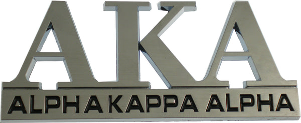 Alpha Kappa Alpha Chrome Cut Out Car Emblem