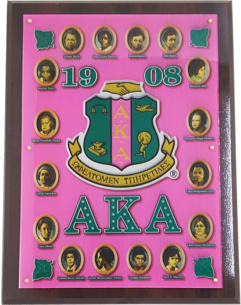 Alpha Kappa Alpha Founders Acrylic Topped Wooden Wall Plaque