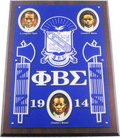 Phi Beta Sigma Founders Acrylic Topped Wooden Wall Plaque