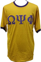 Buffalo Dallas Omega Psi Phi Applique Mens Ringer Tee [Short Sleeve]