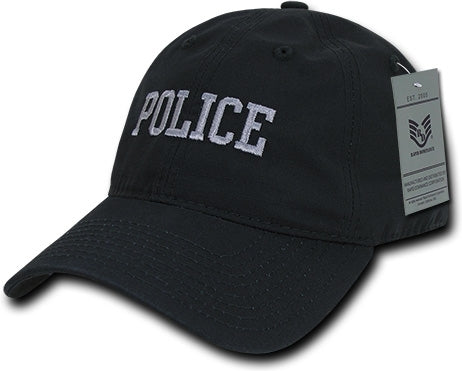 RapDom Police Text Law Enf. Relaxed Ripstop Mens Cap