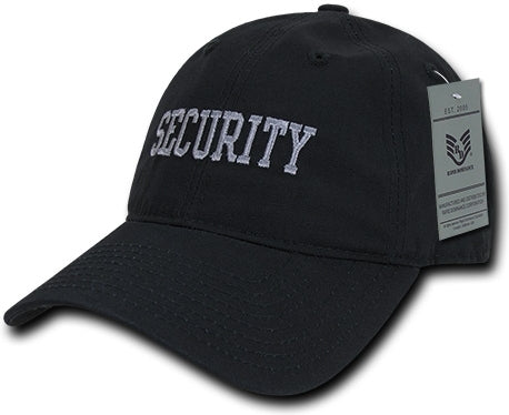 RapDom Security Text Law Enf. Relaxed Ripstop Mens Cap