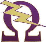 Omega Psi Phi Que Lightning Bolt Iron-On Patch