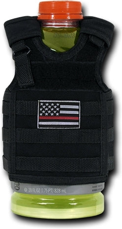 RapDom Thin Red Line Deluxe Tactical Mini Vest Bottle Koozie