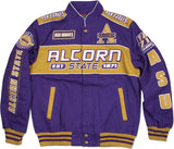 Alcorn State Braves S11 Mens Racing Twill Jacket