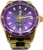 Omega Psi Phi Fraternity Shield Colored Face Quartz Mens Watch