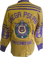 Omega Psi Phi Fraternity Mens Cardigan Sweater