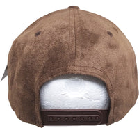 Plain Suede Leather Mens Snapback Cap [Flat Bill]