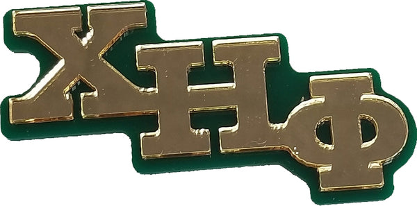 Chi Eta Phi Big Letter Mirror Pin