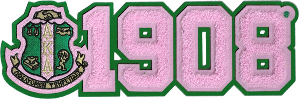 Alpha Kappa Alpha Crest 1908 Chenille Sew-On Patch