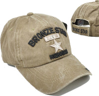 Bronze Star of Heroism Tonal Pigment Washed Cotton Mens Cap