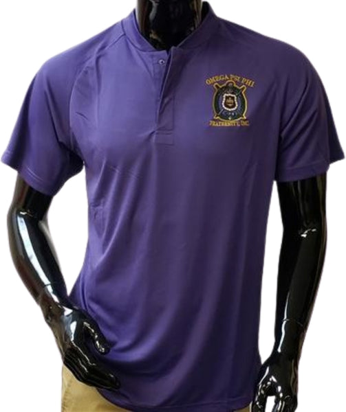 Buffalo Dallas Omega Psi Phi Blade Collar Mens Polo Shirt