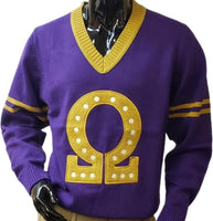 Omega Psi Phi Letterman Style Mens Sweater