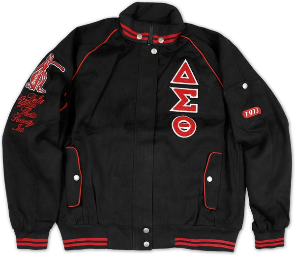 Big Boy Delta Sigma Theta Divine 9 S9 Ladies Twill Racing Jacket