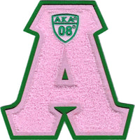 Alpha Kappa Alpha Letter Shield Chenille Sew-On Patch