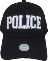 Police Text Classic Plain Bill Mens Cap