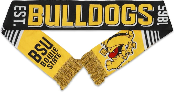 Big Boy Bowie State Bulldogs S4 Mens Knit Scarf