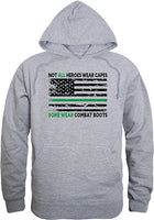 Not All Heroes Wear Capes w/Thin Green Line Graphic Mens Pullover Hoodie