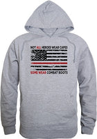 Not All Heroes Wear Capes w/Thin Red Line Graphic Mens Pullover Hoodie