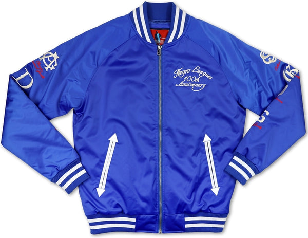 Big Boy Negro League Baseball Centennial Satin Mens Baseball Jacket
