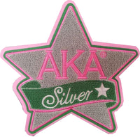 Alpha Kappa Alpha Silver Star Chenille Sew-On Patch