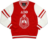 Big Boy Delta Sigma Theta Divine 9 S4 Ladies V-Neck Sweater