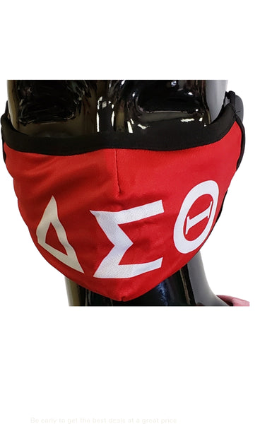 Delta Sigma Theta Letters Face Mask