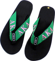 Alpha Kappa Alpha Ladies Thong-Style Flip Flop Sandals