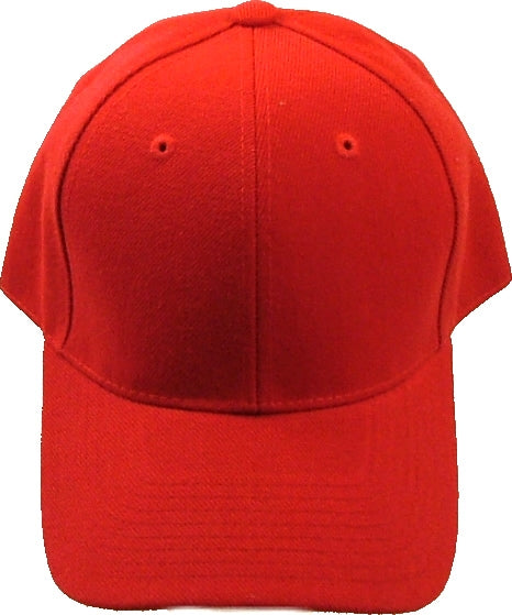 Classic Plain Curved Bill Mens Fitted Cap