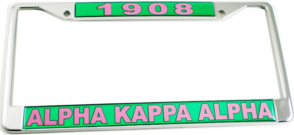 Alpha Kappa Alpha 1908 Domed License Plate Frame