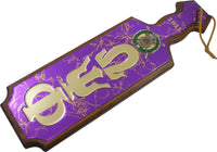 Omega Psi Phi Raised Mirror Letters & Shield Domed Paddle