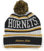 Alabama State Hornets S51 Mens Cuff Beanie Cap with Ball