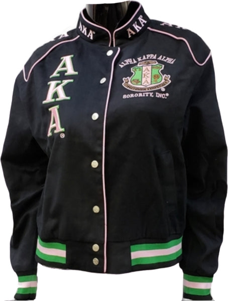 Alpha Kappa Alpha Sorority Ladies Racing Twill Jacket